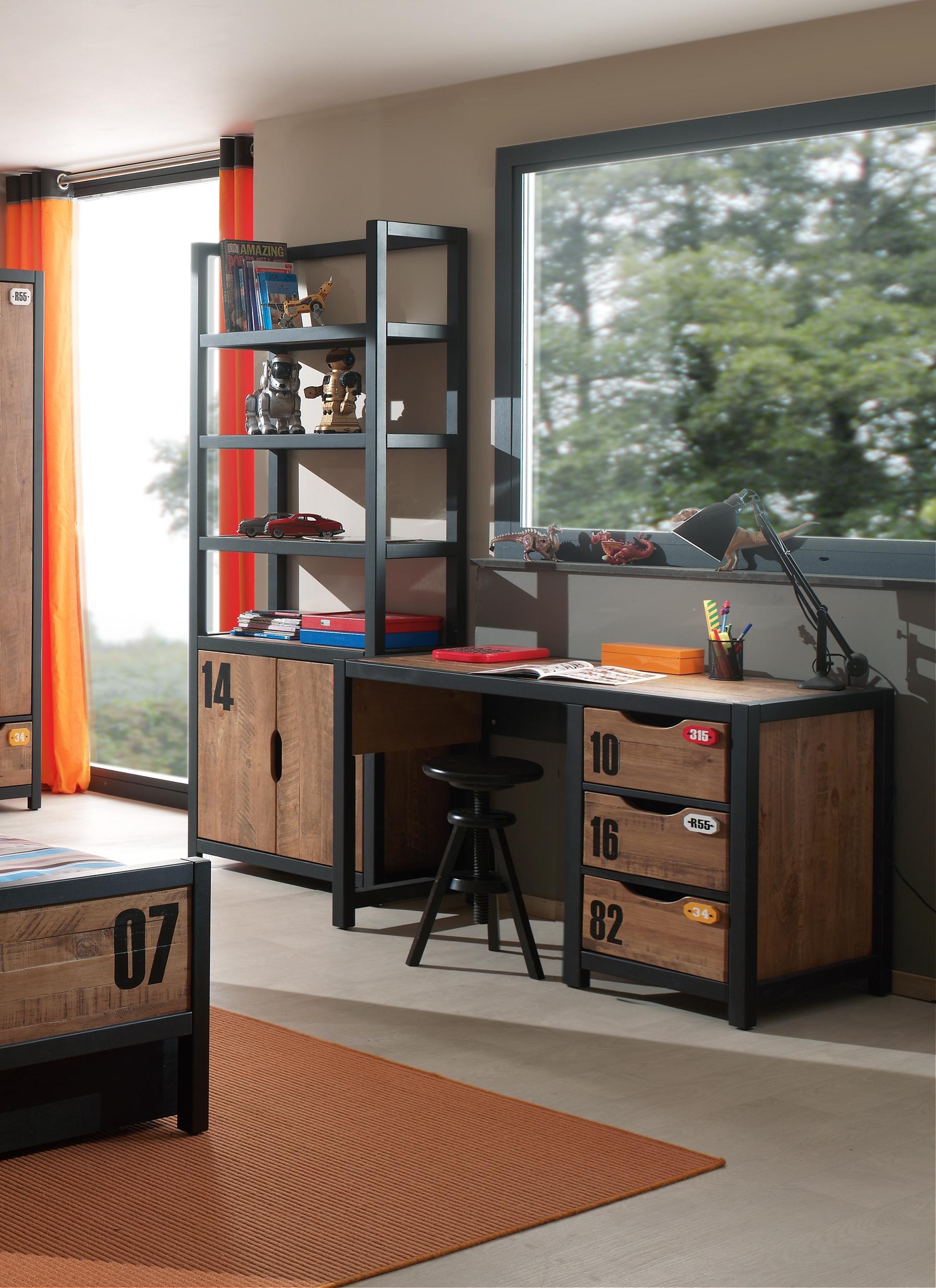 Jugendzimmer Schreibtisch Alex in Massivholz