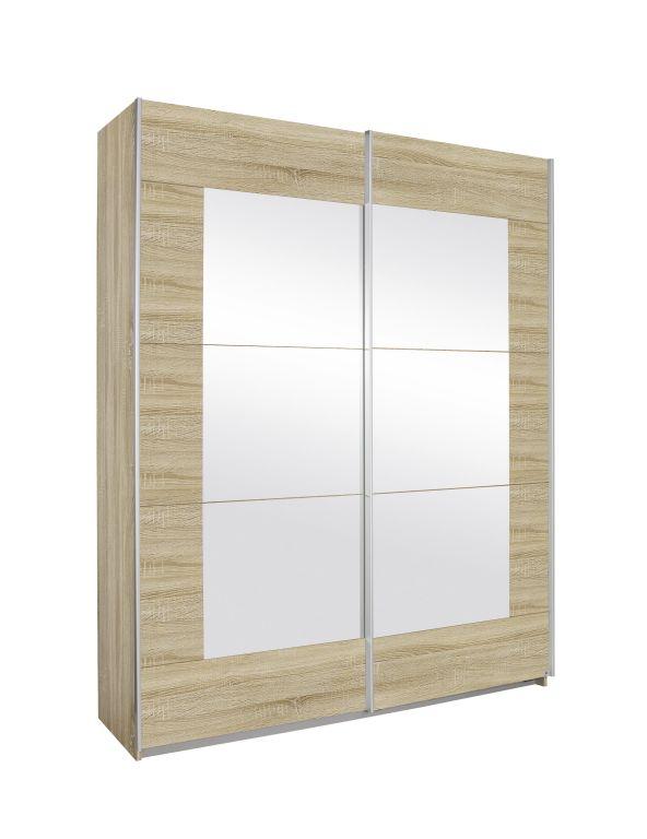Schwebetürenschrank ALEGRO Breite 181 cm Eiche Sonoma