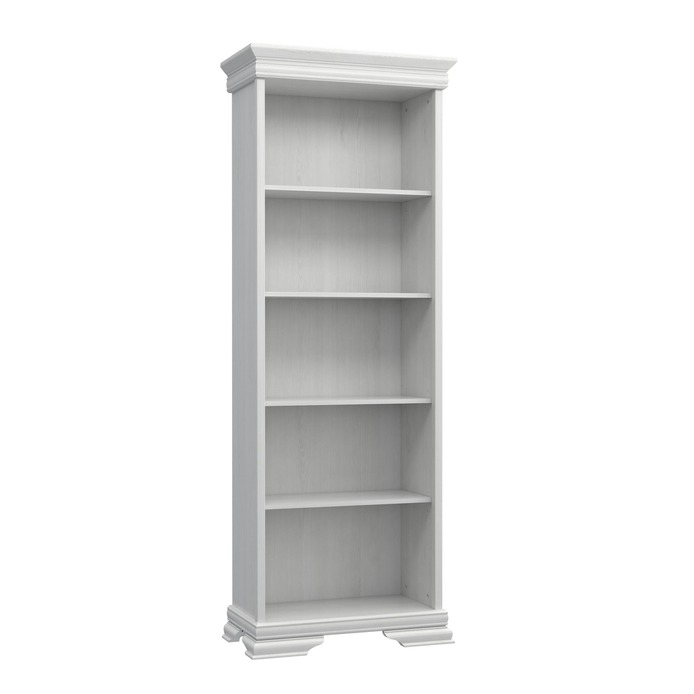 Bücherregal in Schneeeiche Weiß Avina