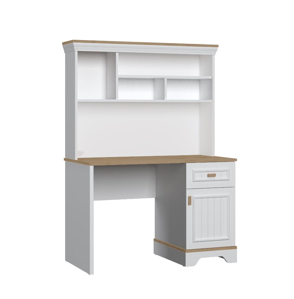 Almila Schreibtisch mit Aufsatz Monte mit USB