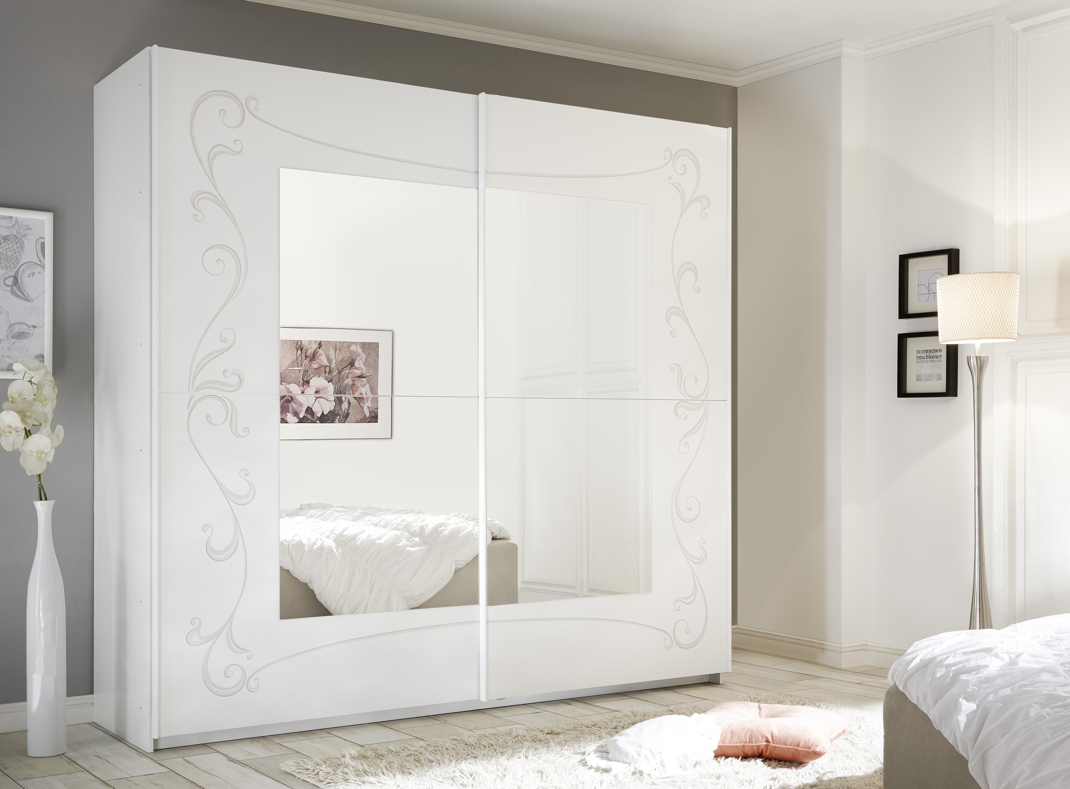 Schwebetürenschrank Sereina mit Spiegel 220cm