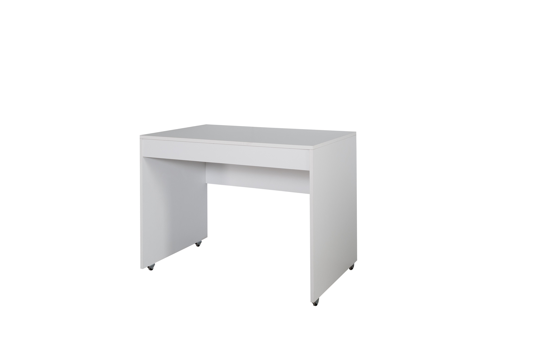 Titi Schreibtisch Puzzle mit Rollen in Weiß