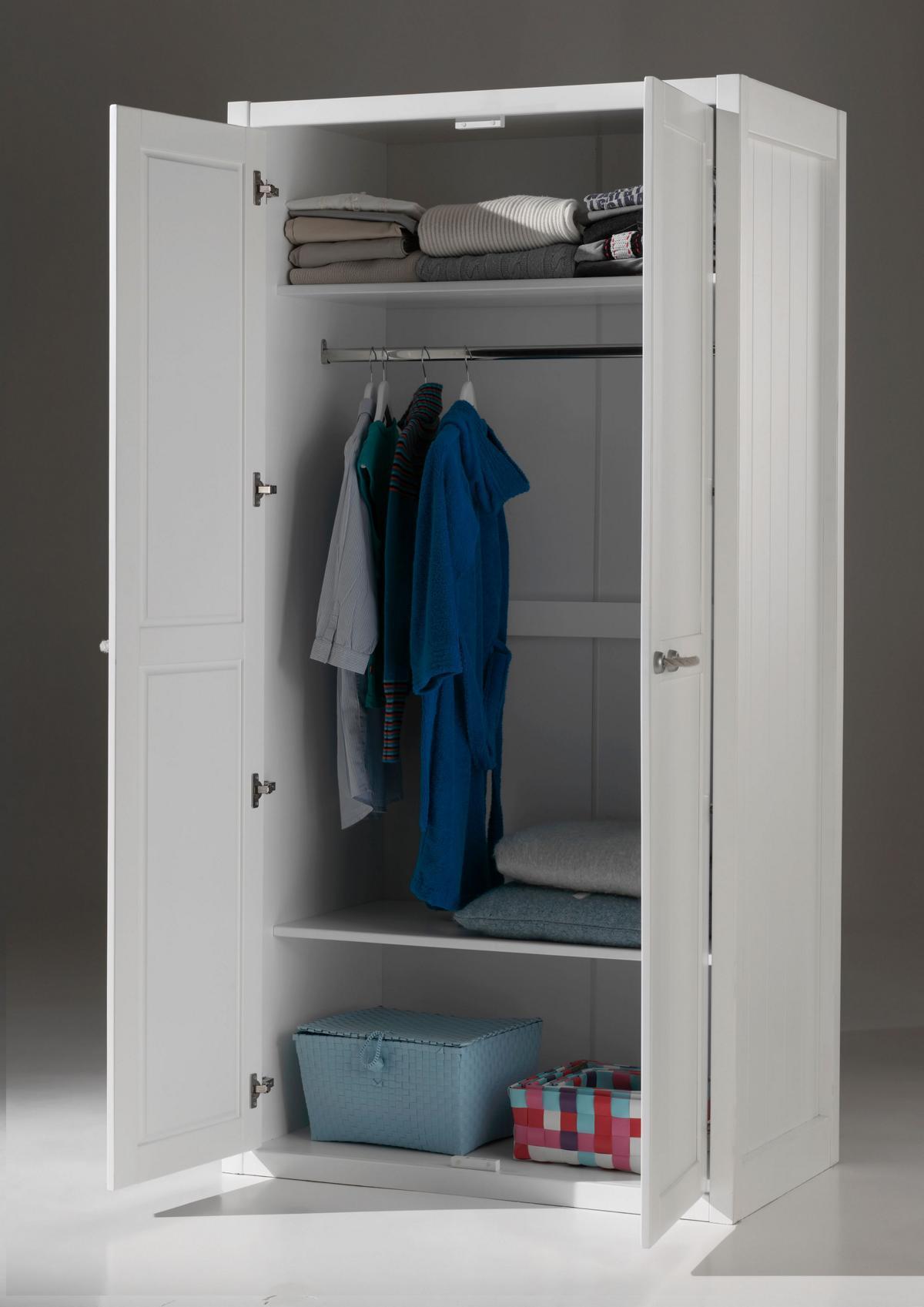Mädchenzimmer komplett Set Iny 5-teilig in Weiß MDF