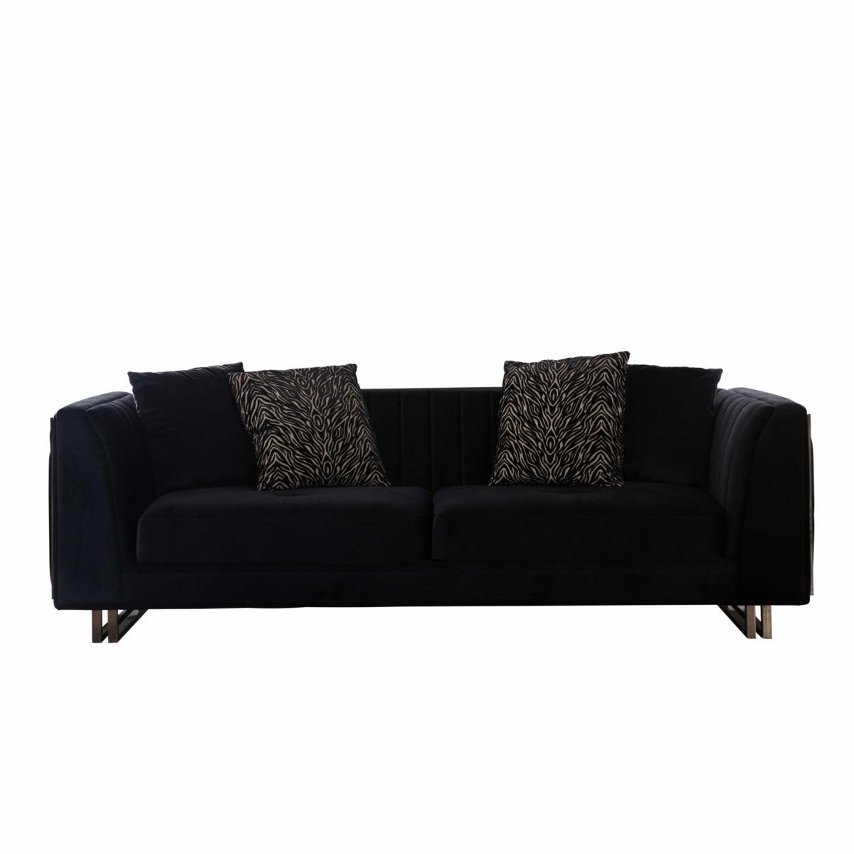 Lidya Couch 3-Sitzer Collvan mit Dekokissen