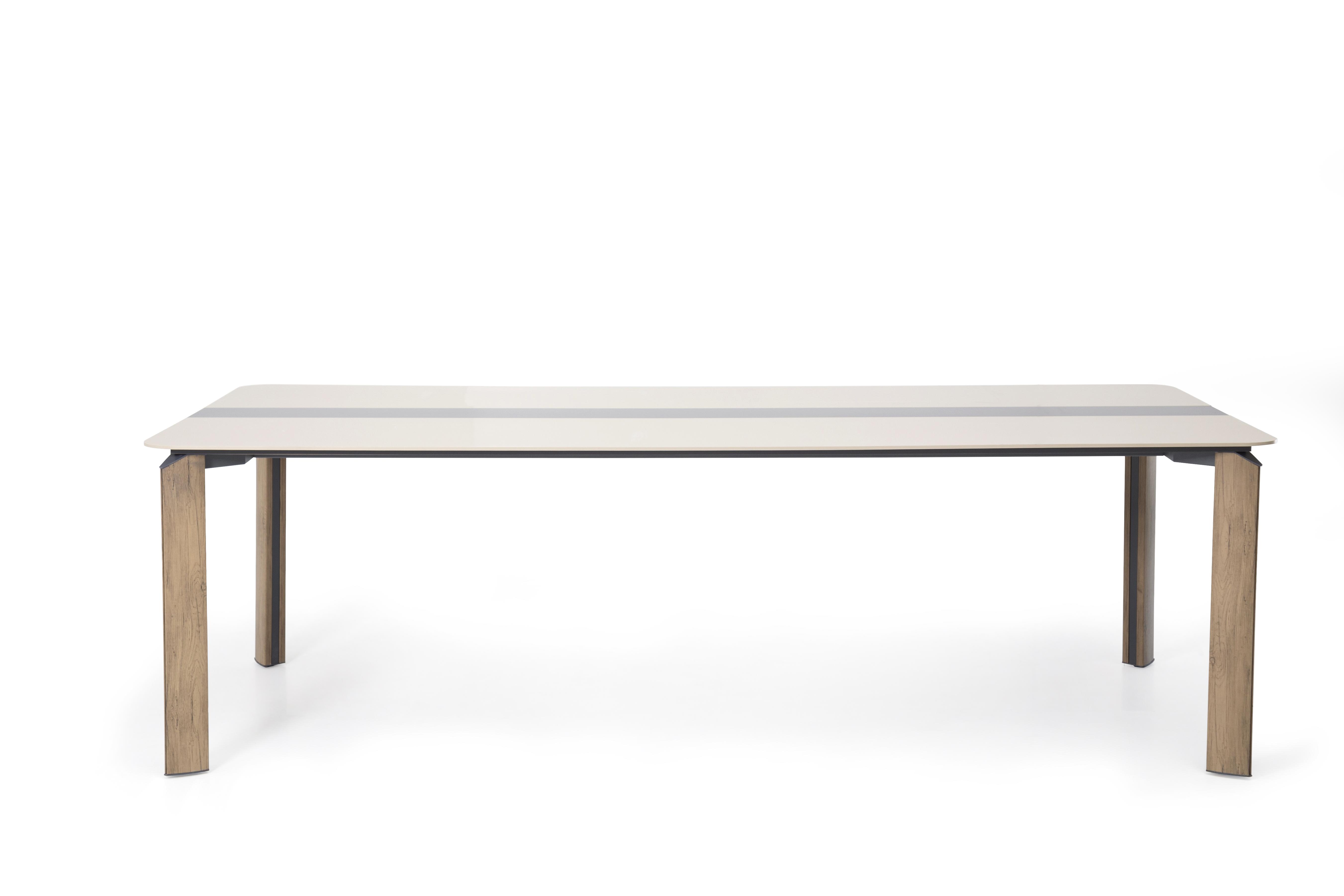 Ovali Meetingtisch 4-beinig Twist Holzoptik